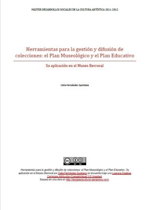 Portada plan museologico y educativo